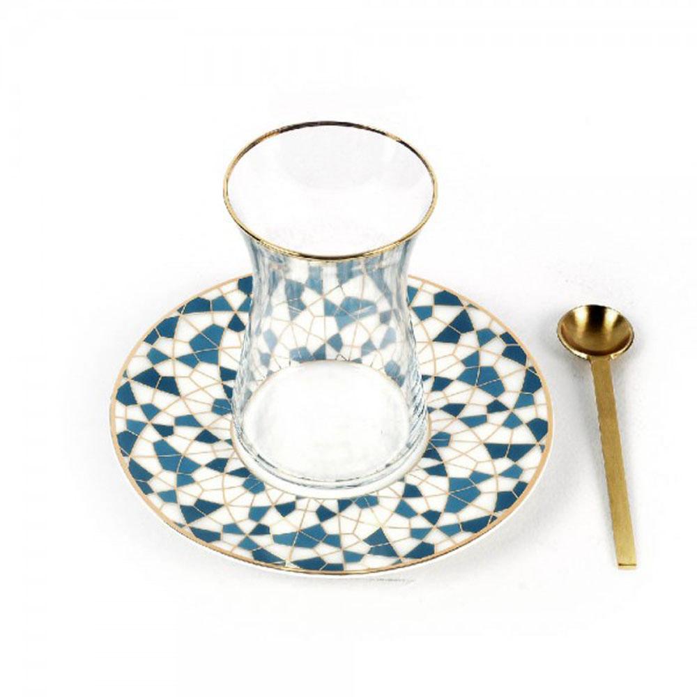 Zarina Geometric Tea Cup - Set of 6