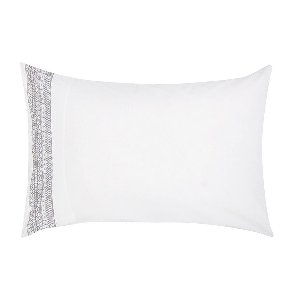 Croft Collection Isla Border Pillow Case