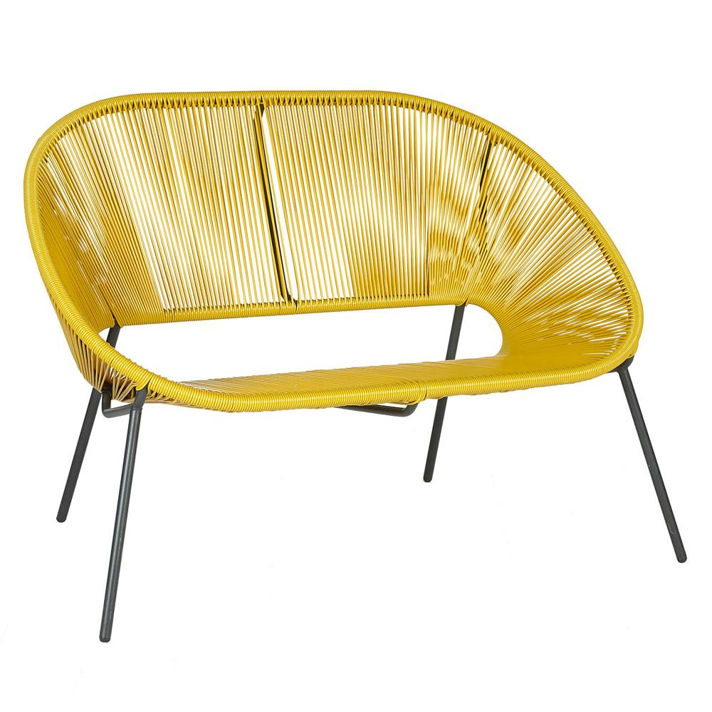 Salsa 2-Seater Garden Sofa, Saffron