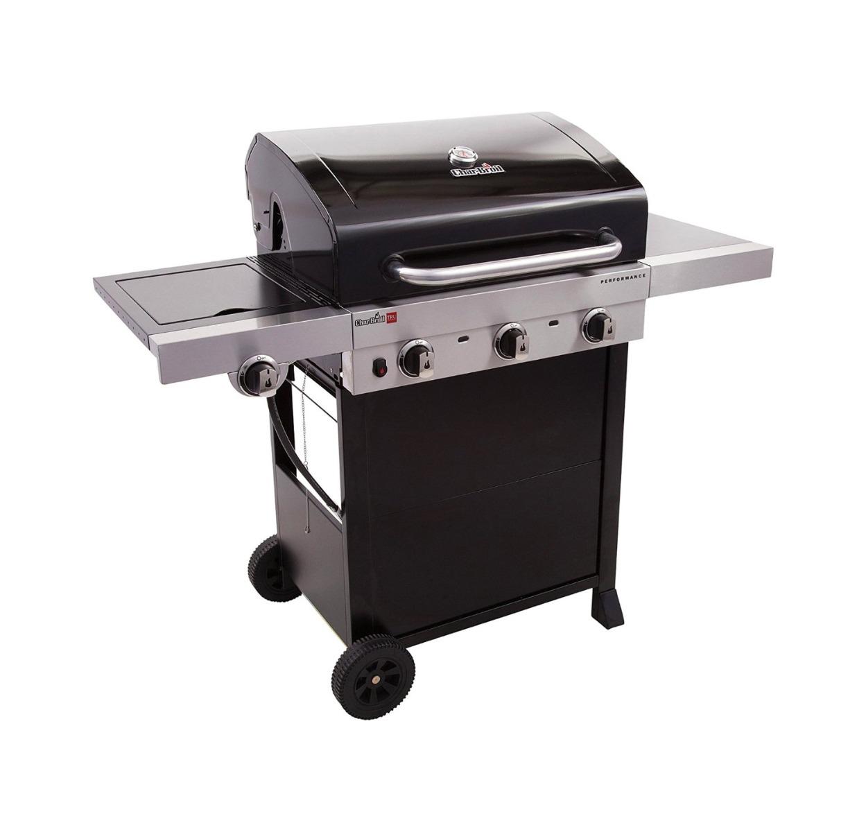 Char-Broil 3-Burner Cart Gas Grill (Black)