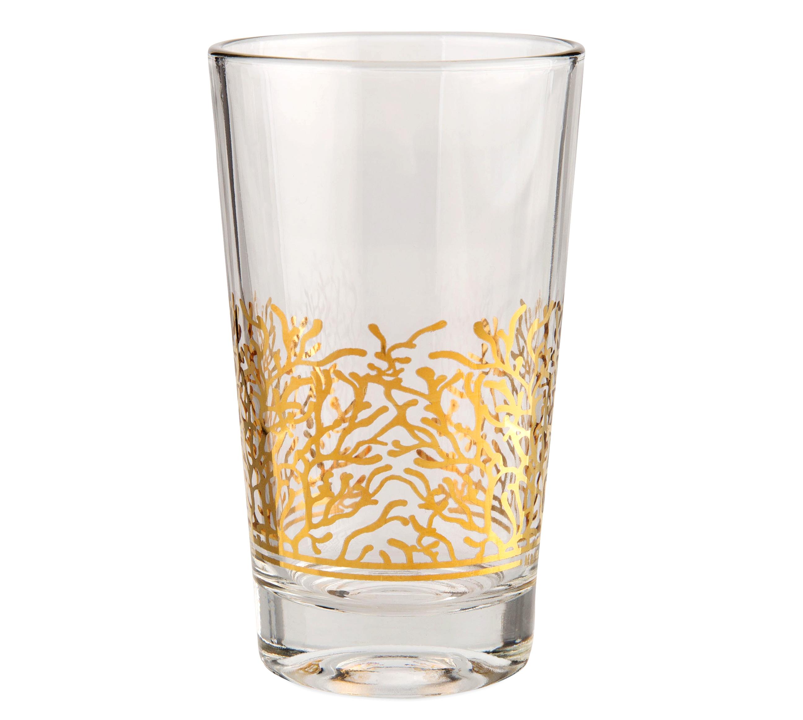 Dimlaj - Tea glass w/o handle set Murjan Gold/6pcs