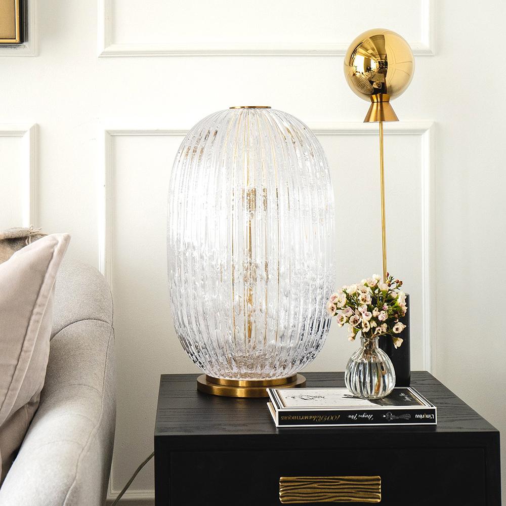 George Flavin II Hand-Blown Decorative Lamp