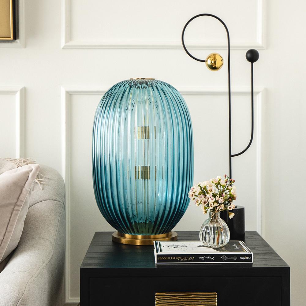 George Flavin III Hand-Blown Decorative Lamp