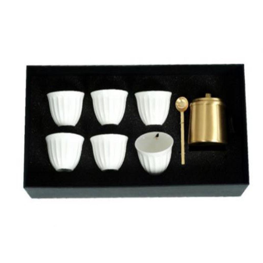 Zarina Tray + Sugar Bowl + Birds Chaffe Cups - Set of 6