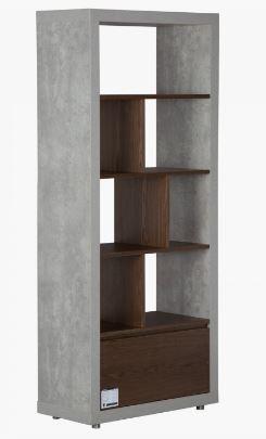 Boston Bookcase  ConcreteBrown