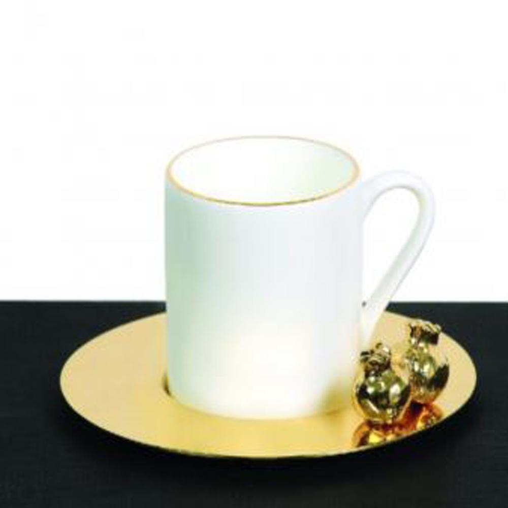 Zarina 3D Pomegranate Espresso Cups - Set of 6