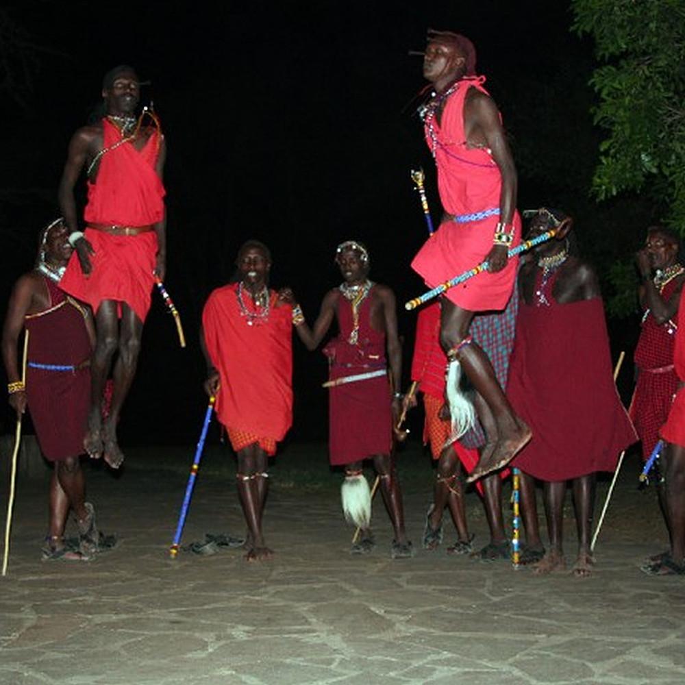 An Evening with Maasai People