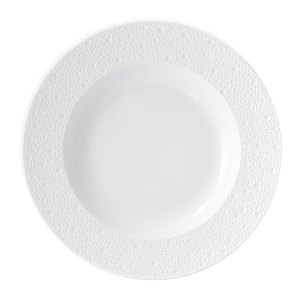 Bernardaud Ecume Rim Soup Plate White