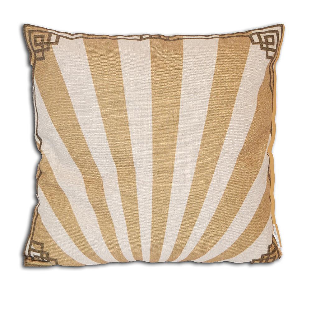 Deco Arabia Plain-Sepia/Gold cushion cover