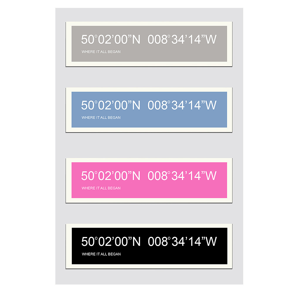 Deco Arabia Coordinates Personalised Print A2 framed