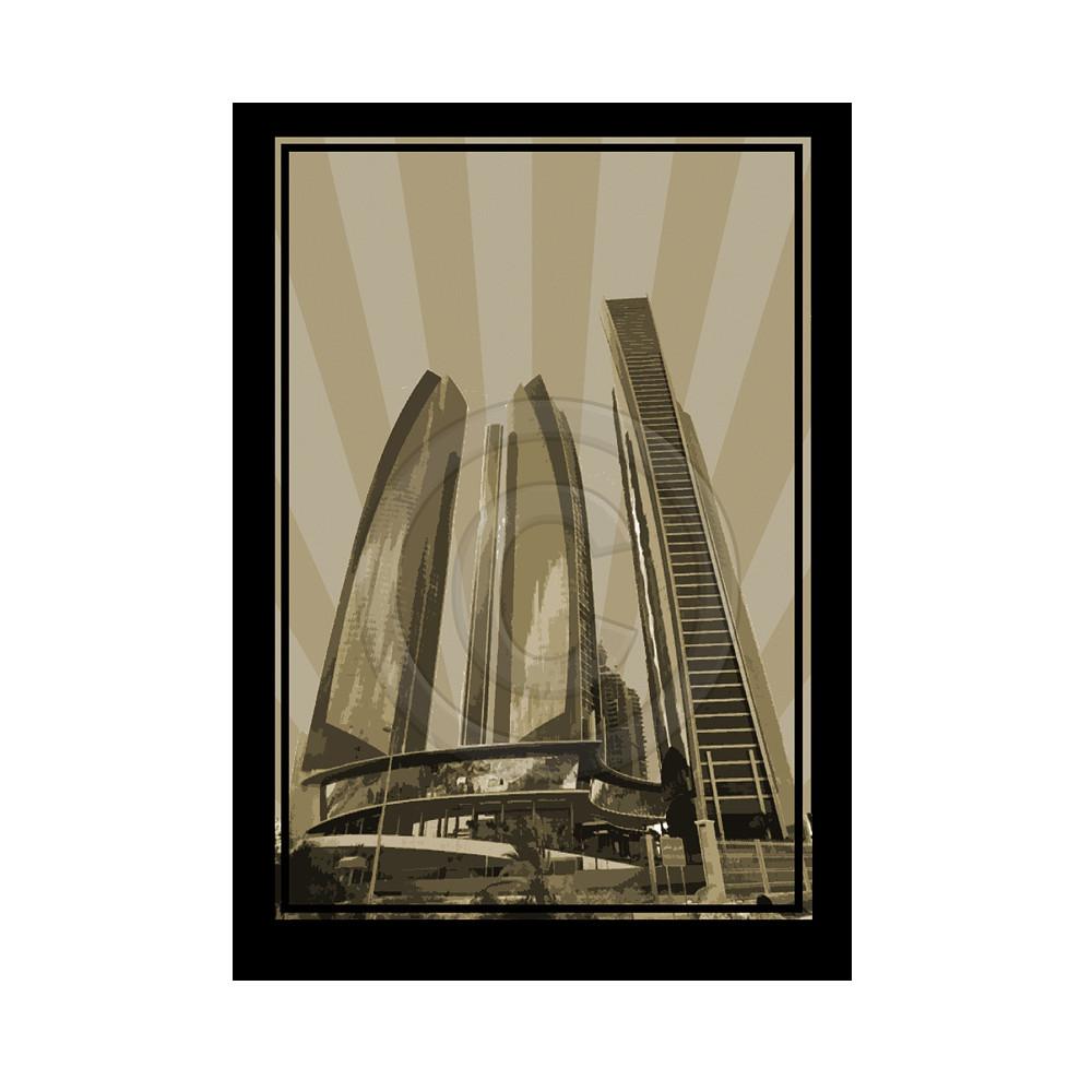 Deco Arabia Etihad Towers sepia A1