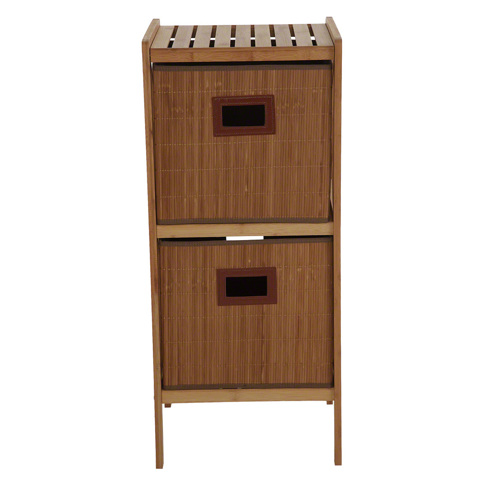 Home Centre Bamboo Bathroom Cabinet with 2 Drawers