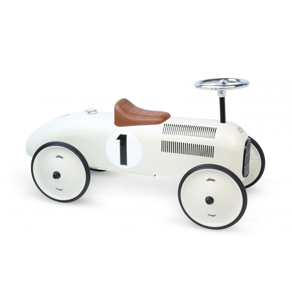 MarMarLand Vilac Metal Car																																															, White