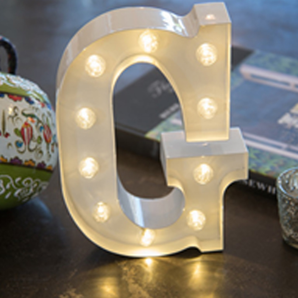 Lights & Letters Silver Rusty G