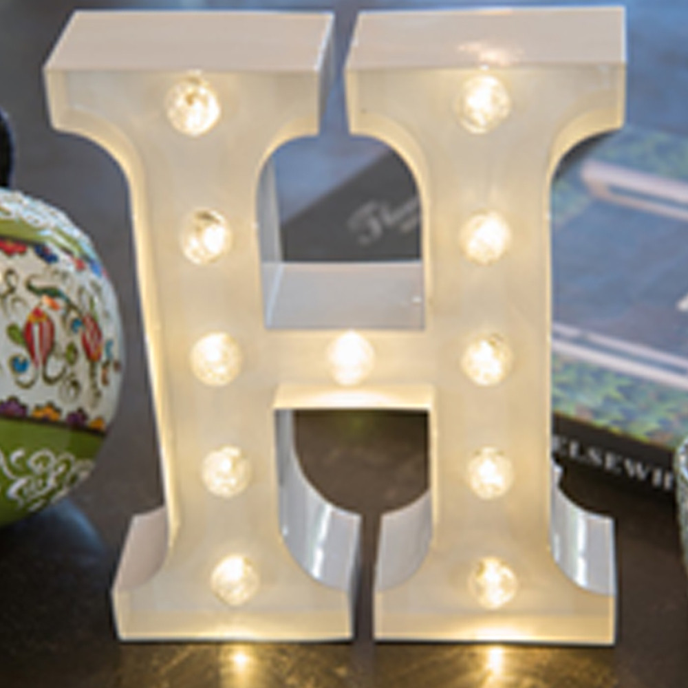 Lights & Letters White H