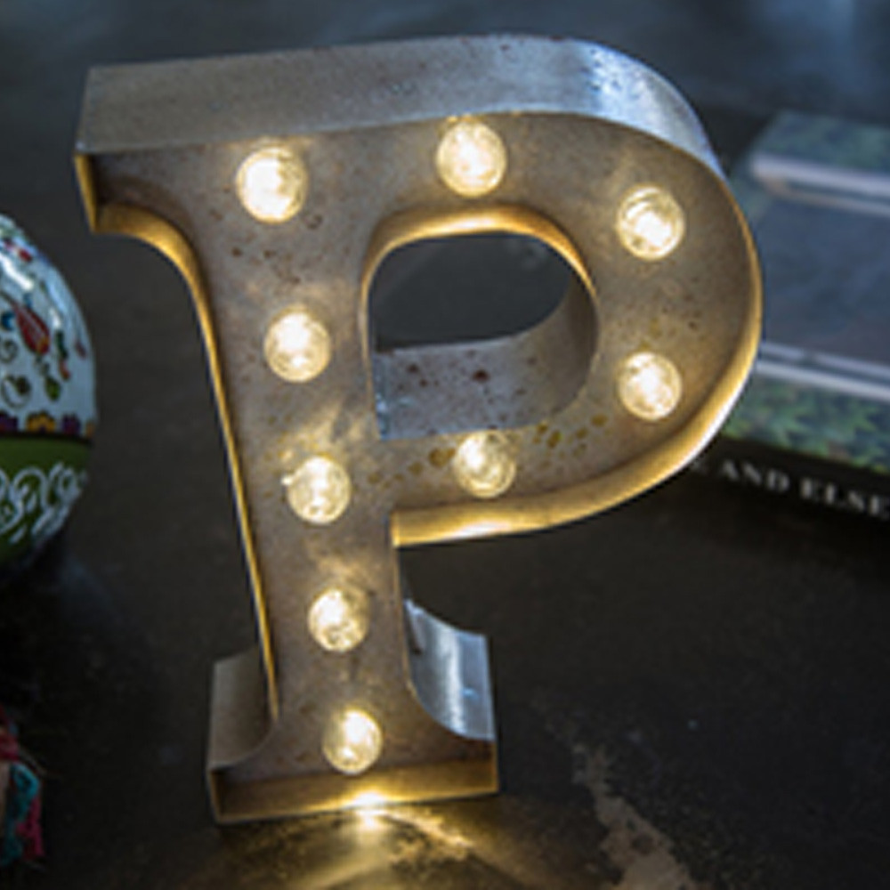 Lights & Letters Silver Rusty P