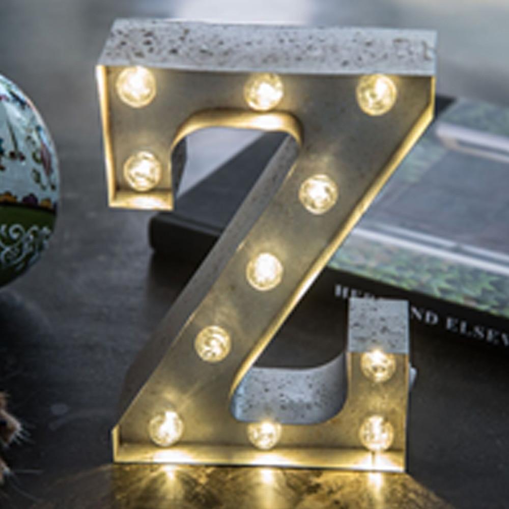Lights & Letters Silver Rusty Z