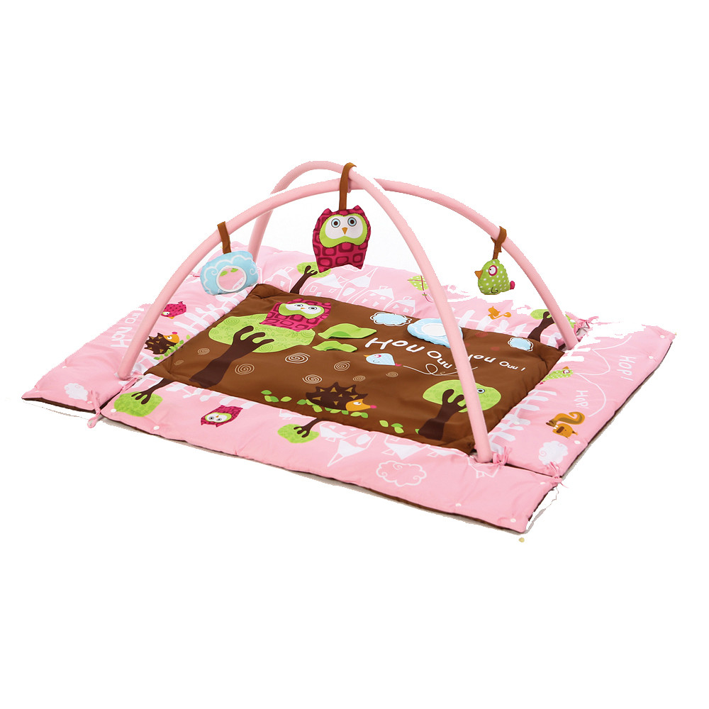 Ludi Rectangle Owl Playmat Pink