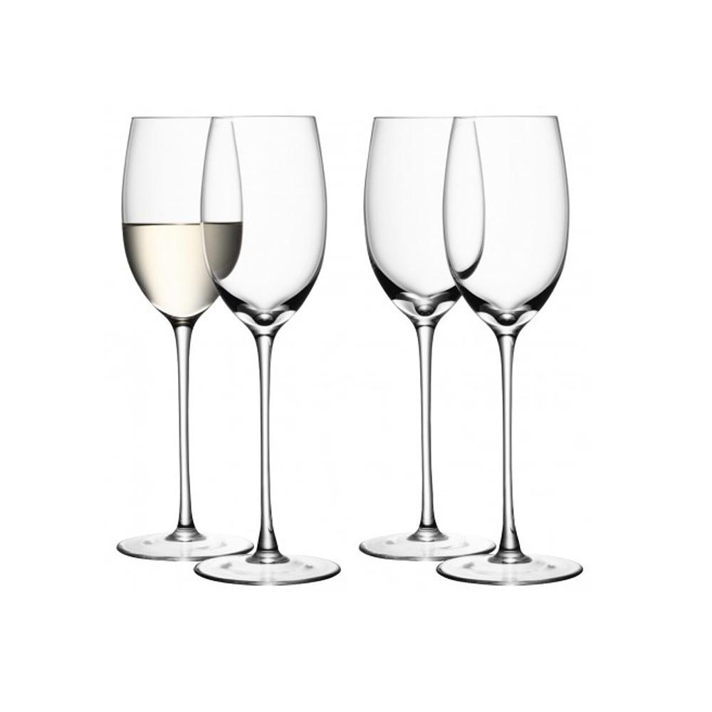 LSA International White Glass, 4 pcs