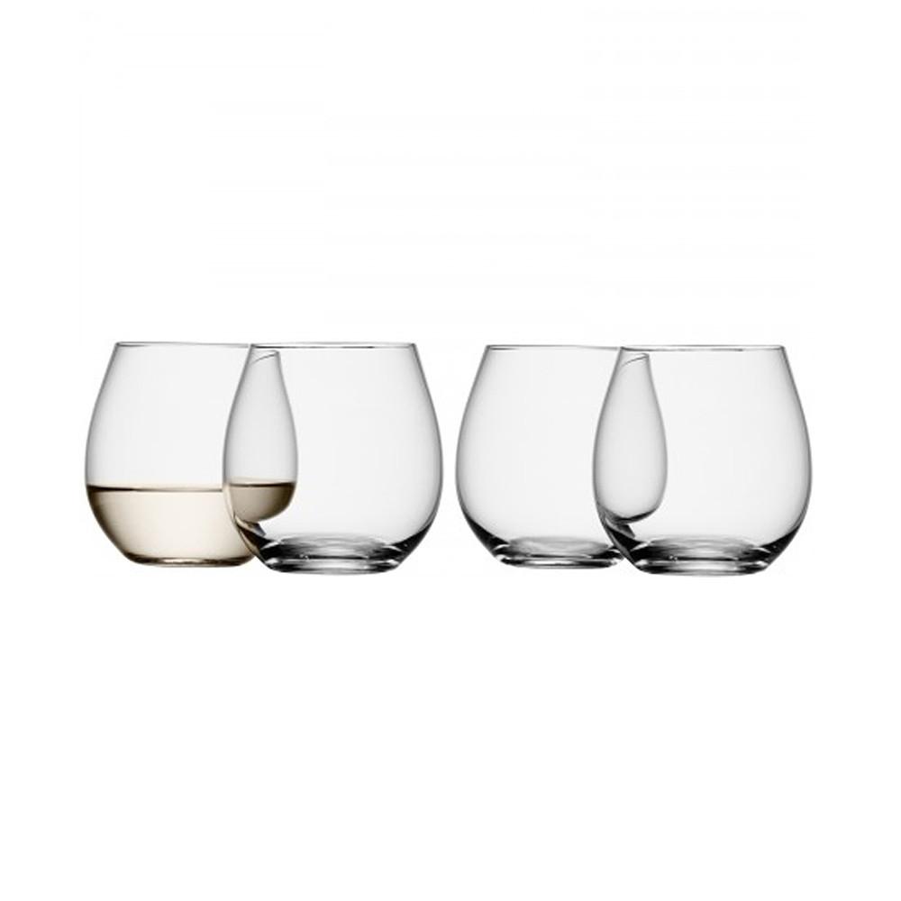 LSA International Stemless White Glass