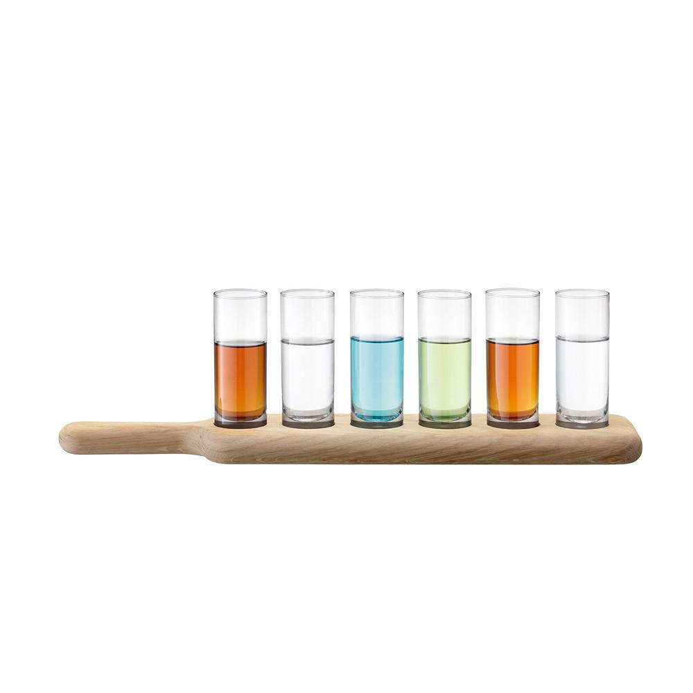 LSA International Paddle Glass & Oak Set