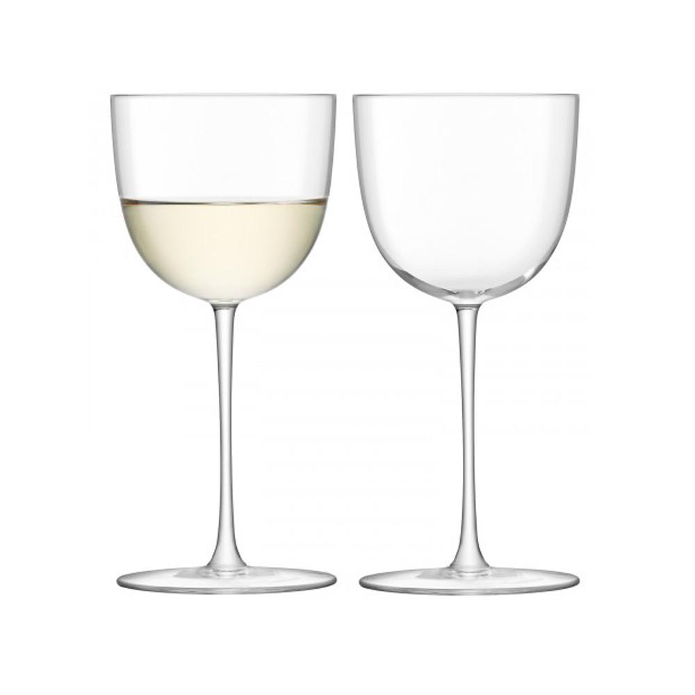 LSA International Olivia White Glass