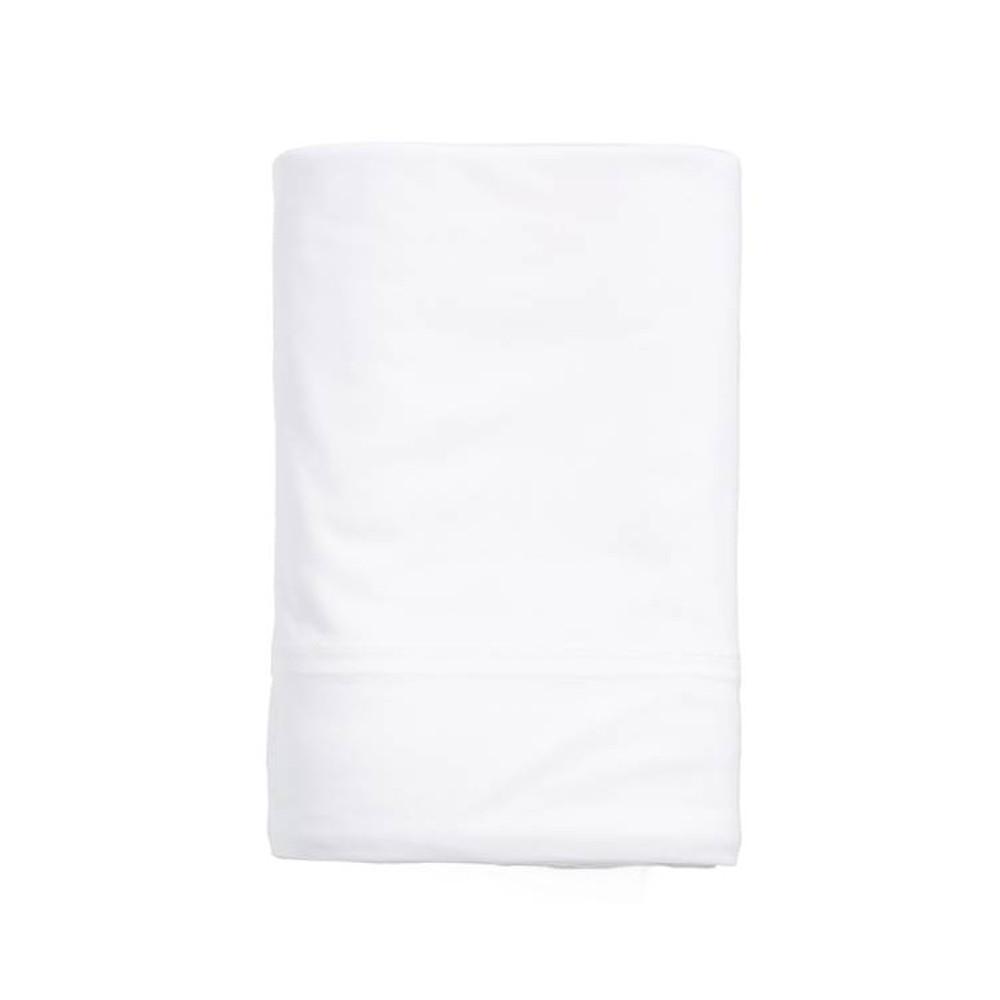 Calvin Klein Flat Sheet White 180x290 Modern Cotton Jersey Body