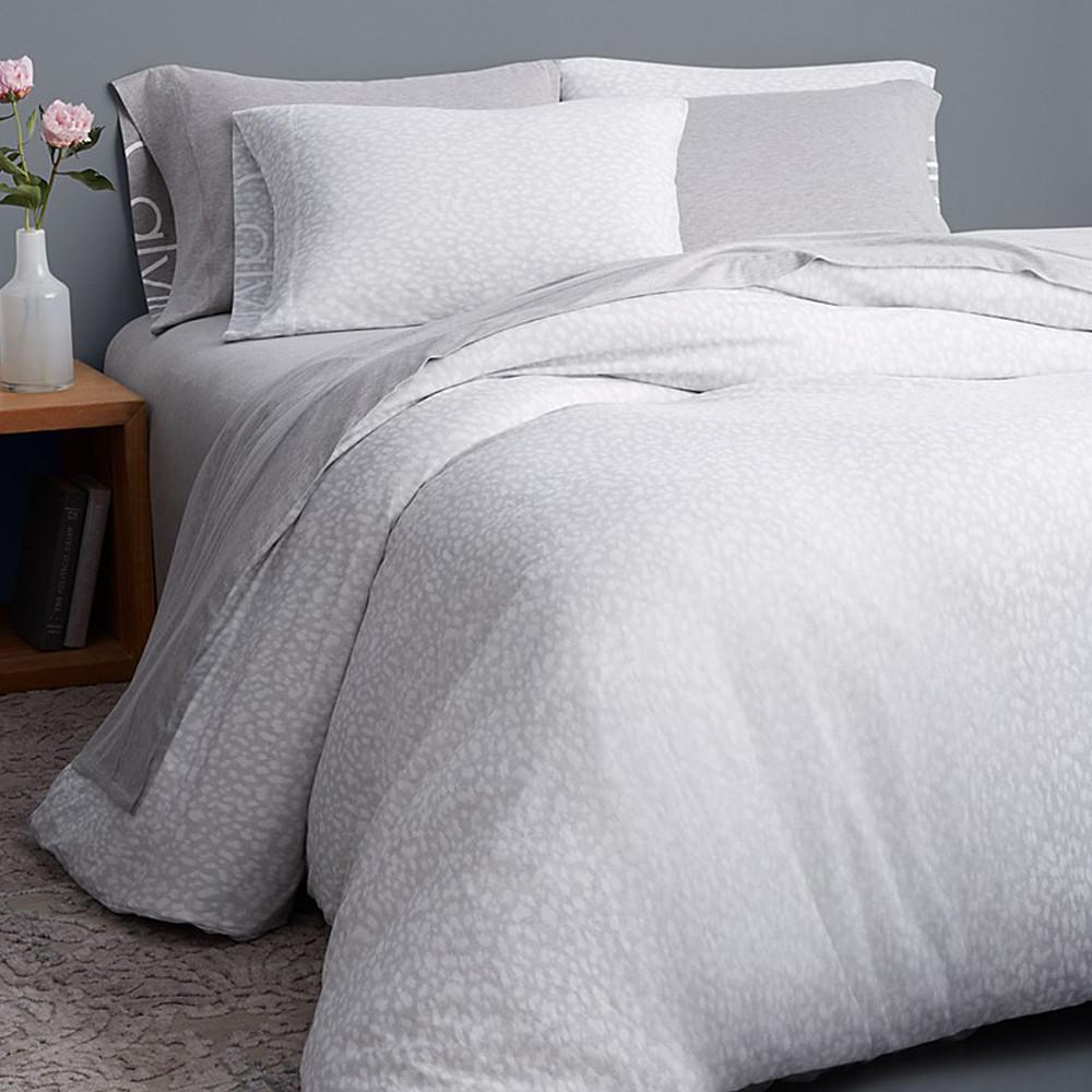 Calvin Klein Duvet Cover Grey 240x220 Modern Cotton Jersey Primal