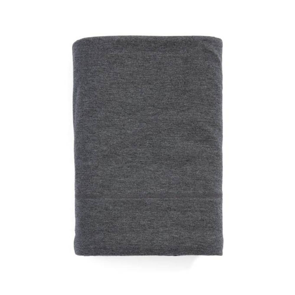 Calvin Klein Flat Sheet Charcoal 180x290 Modern Cotton Jersey Body
