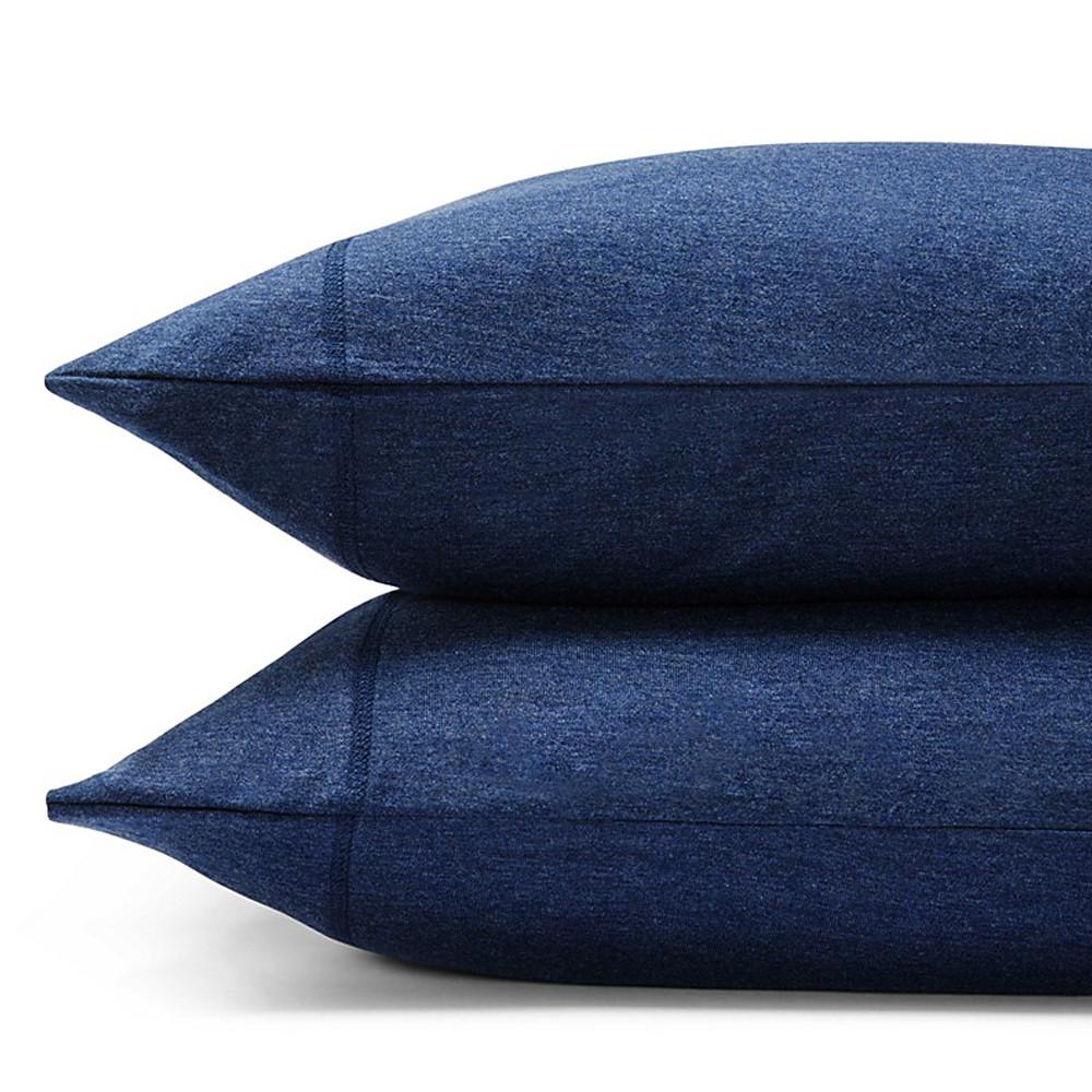 Modern Cotton Jersey Body Pillowcase Indigo