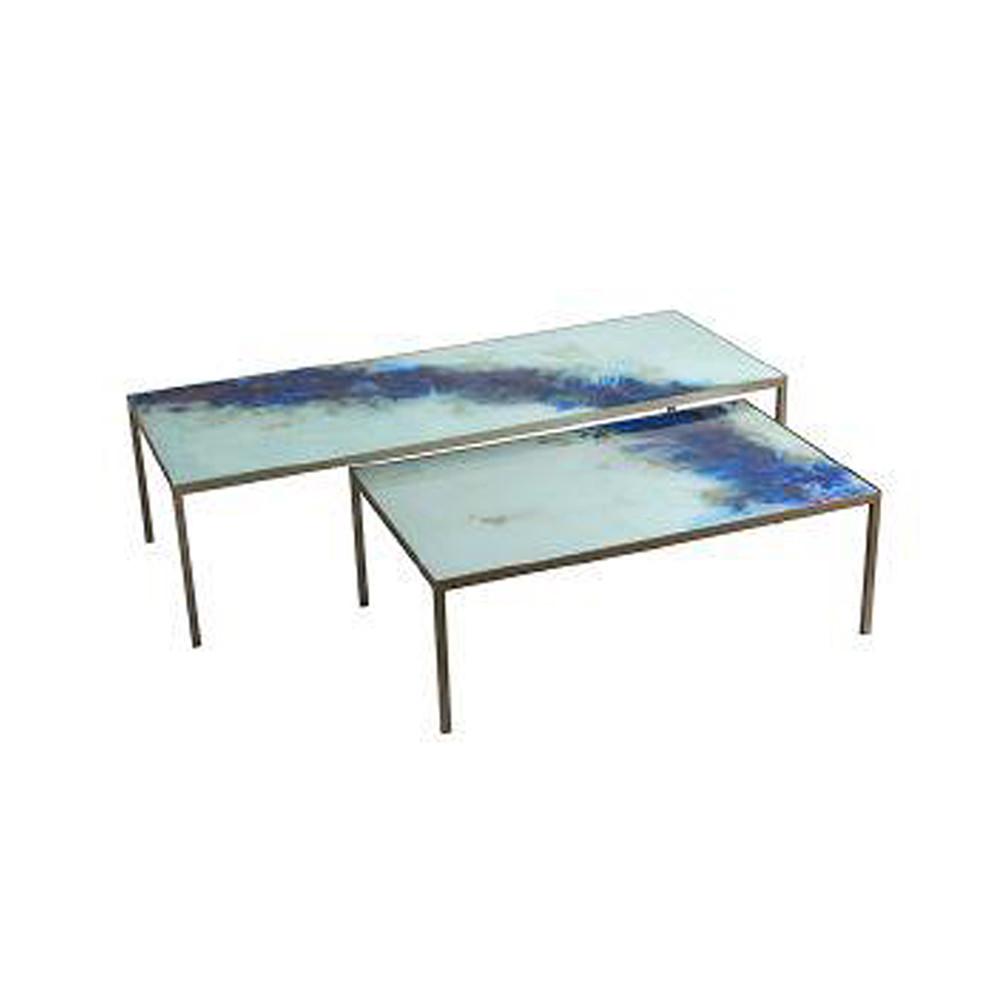 Organic Coffee Table Set Blue