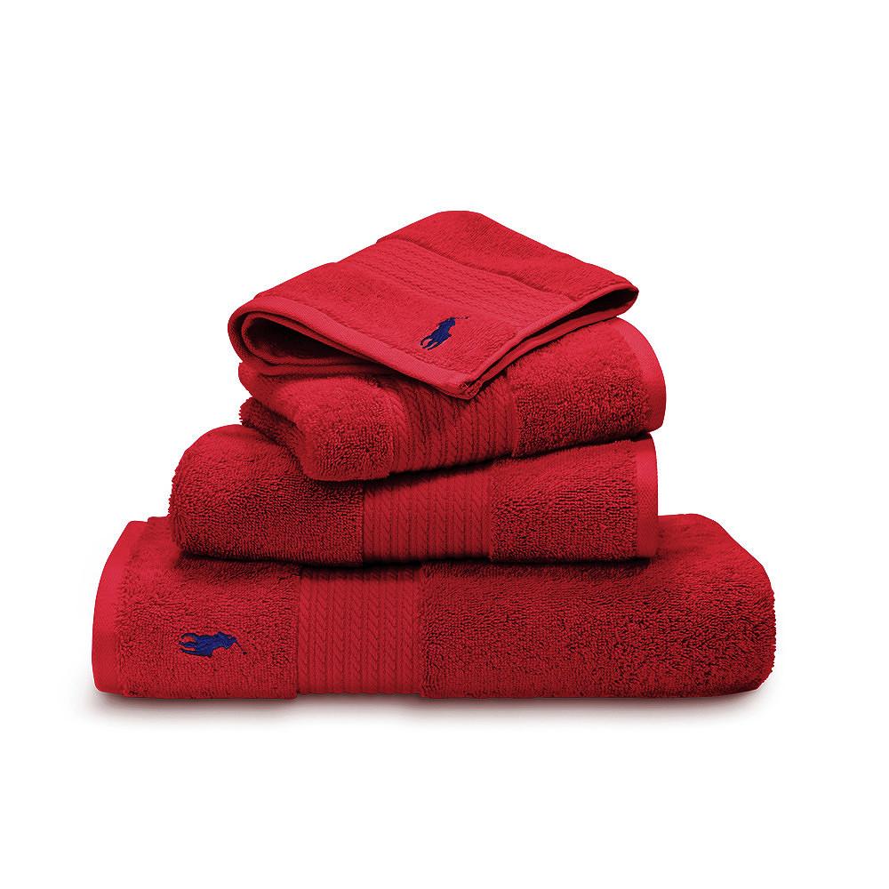 Ralph Lauren Bath Towel Red