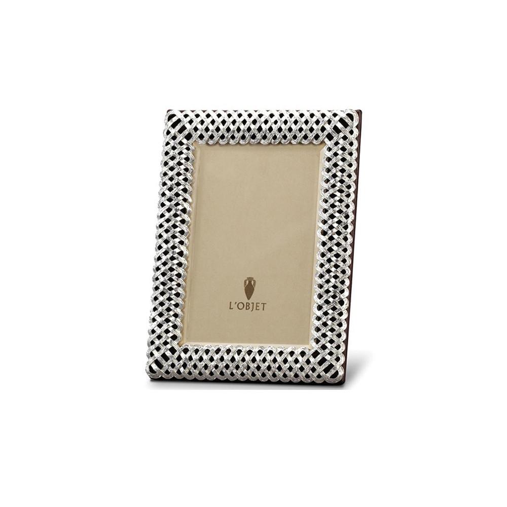 L'Objet Platinum Braid Frame 4x6cm