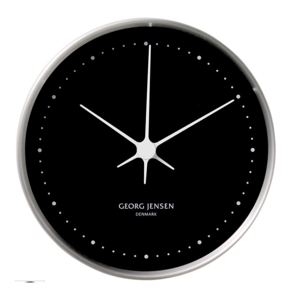 Georg Jensen Koppel Wall Clock Steel&Black 10cm