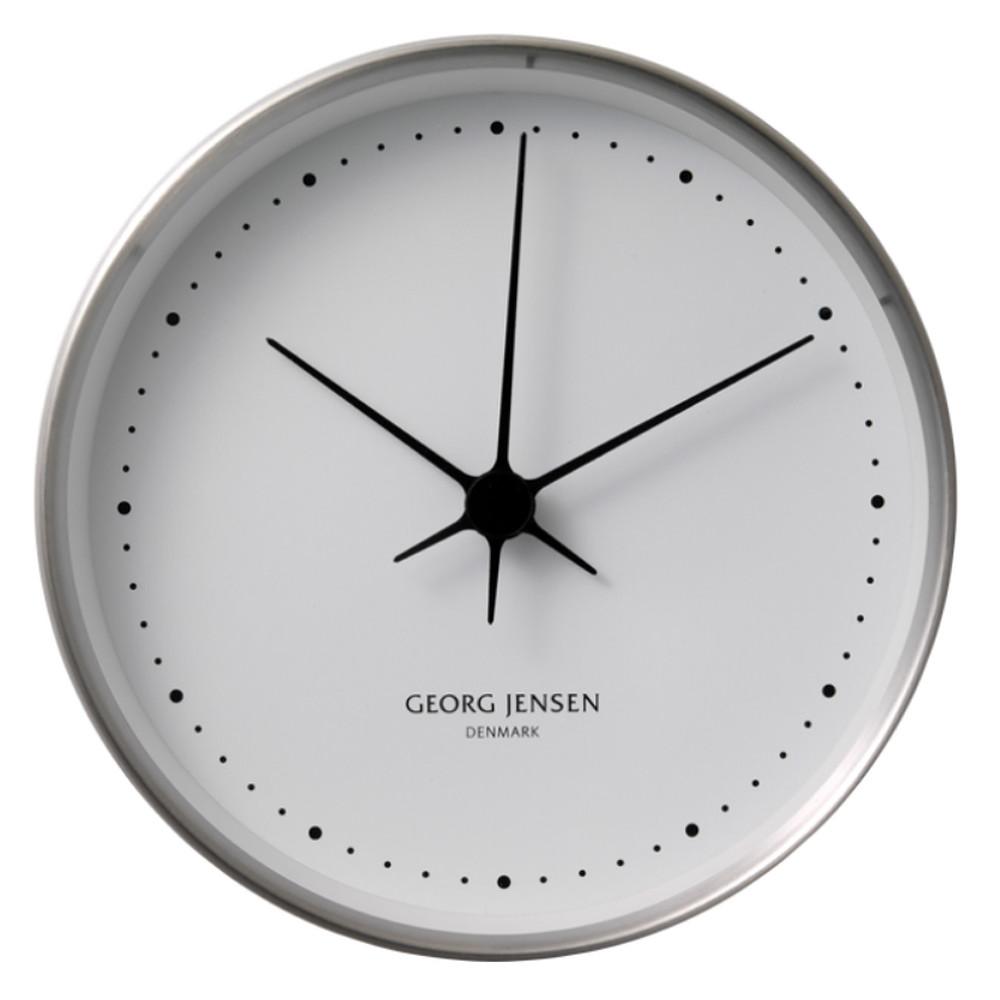 Georg Jensen Koppel Wall Clock Steel&White 10cm