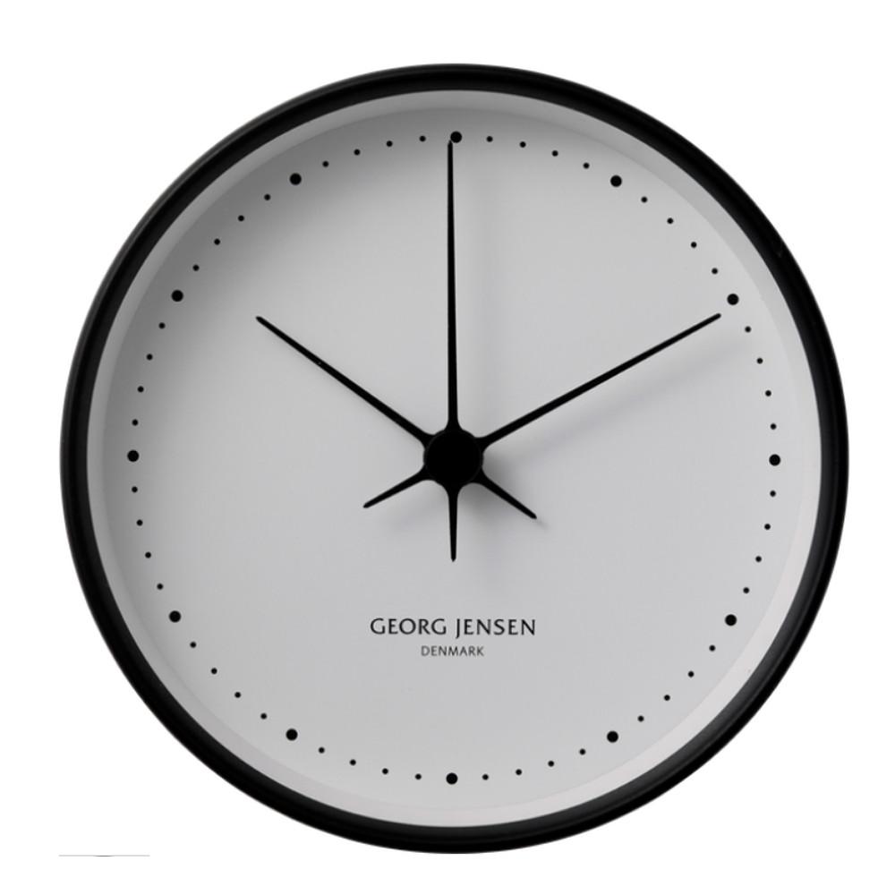Georg Jensen Koppel Wall Clock Black w/ White Dial 22cm