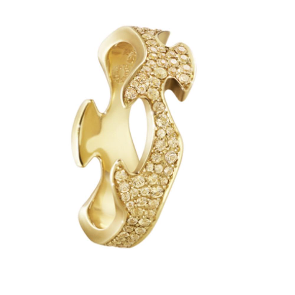 Georg Jensen Fusion Centre Ring 18 Kt Rose Gold With Cinnamon Diamonds
