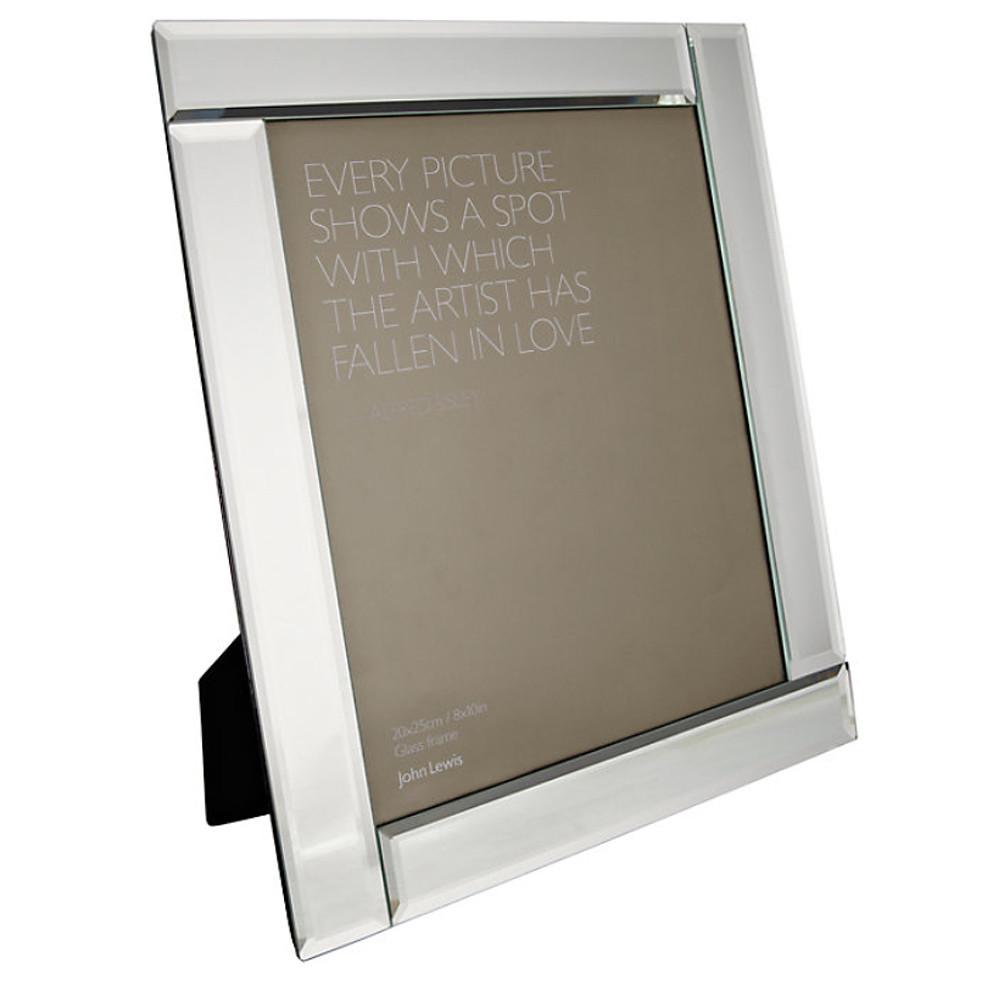 John Lewis Deco Glass Photo Frame 6 X 86X 8
