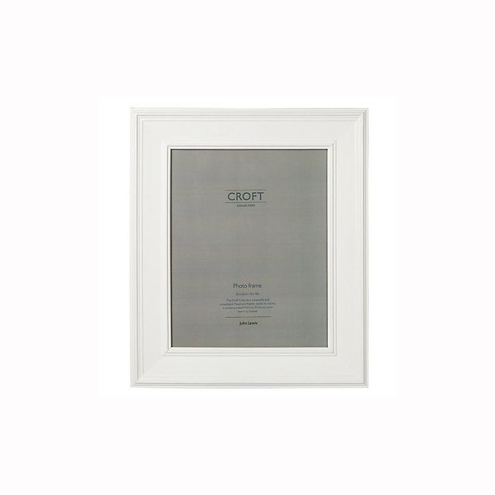 John Lewis Croft Photo Frame White 20x25cm
