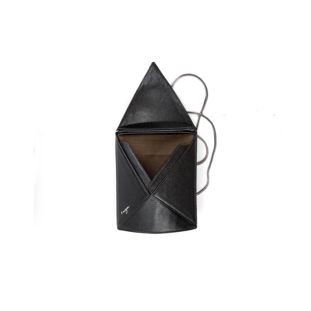 Cosset Oval Shoulder Bag, KZ2213BLK