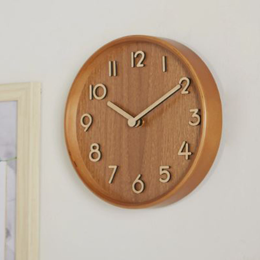 Woody Table Clock Dia-Walnut