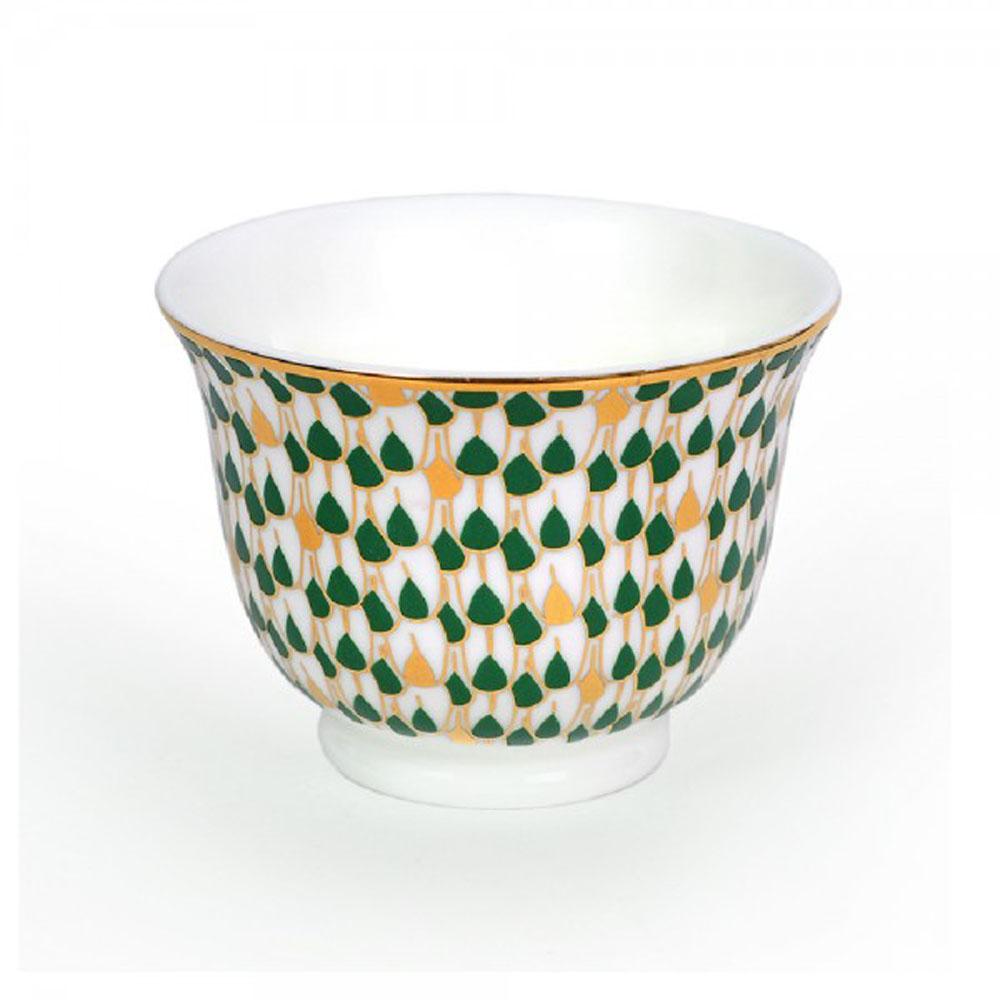 Zarina Swirl Green Chaffe Cups - Set of 6