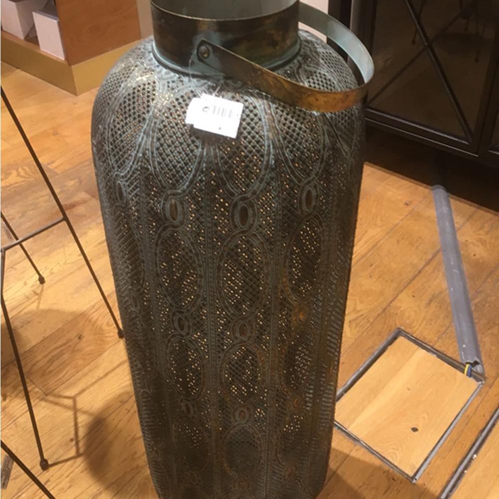 Lantern Met 27x27x61.5cm Gold