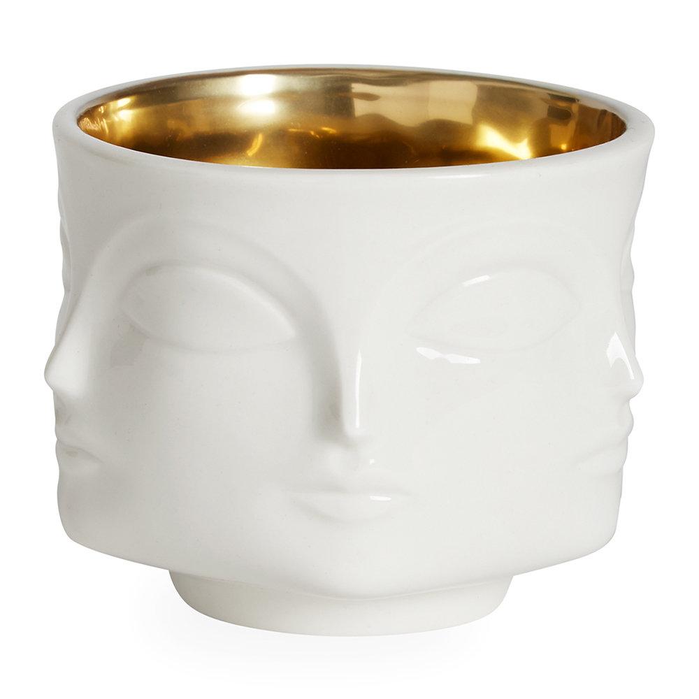 Gold Interior Muse Bowl - White