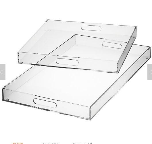 Hertz  Tray Plexi Arabesque 25X37 White