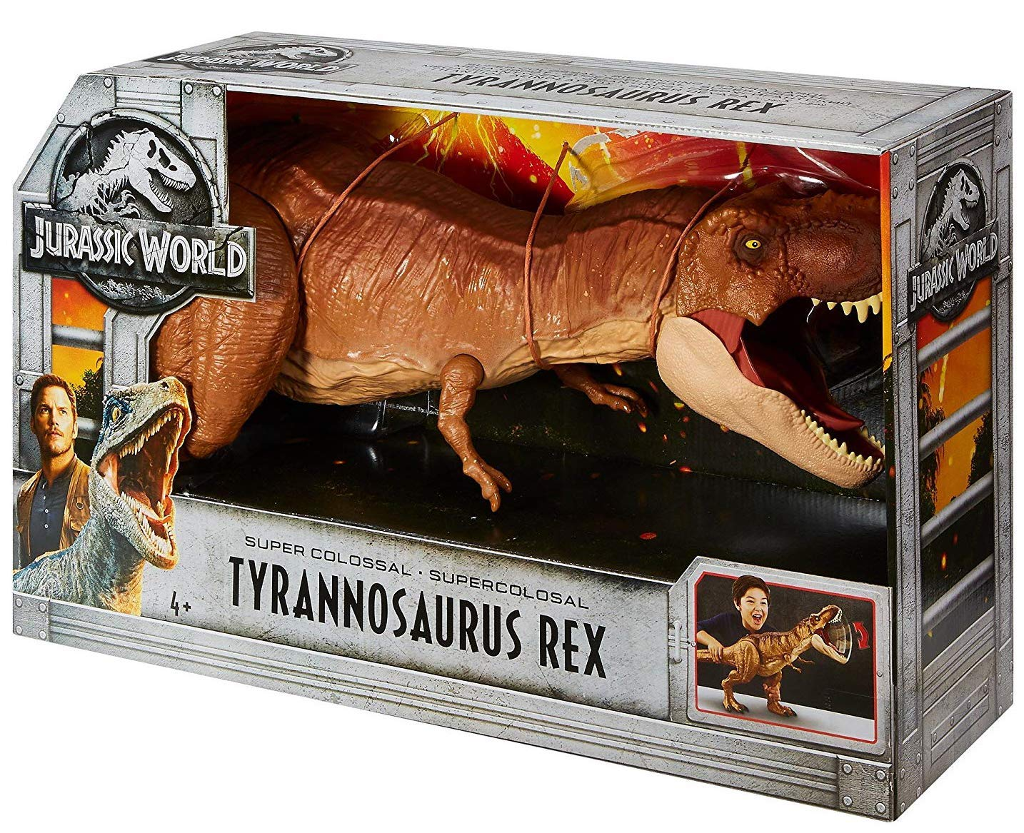 Jurassic World FMY70 Thrash­ N Throw Tyrannosaurus Rex Figure
