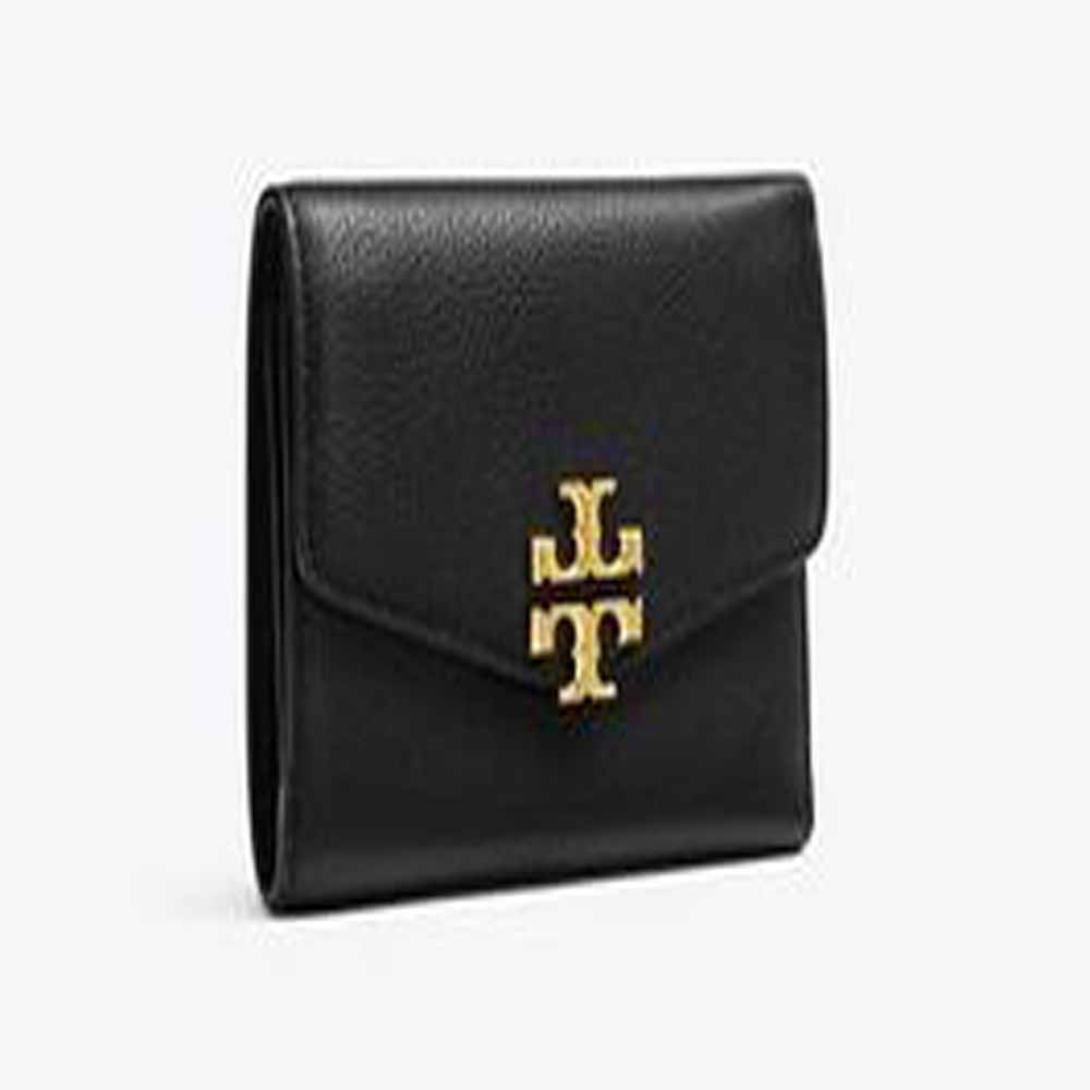 Kira Mixed-Materials Medium Flap Wallet