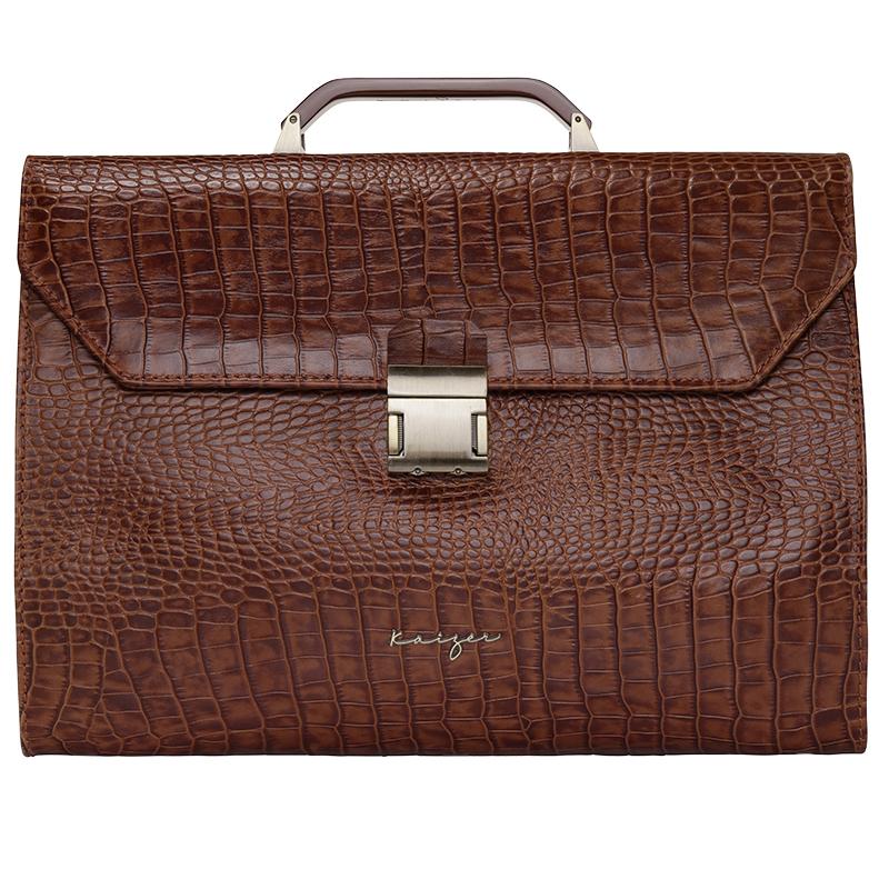 Croco Leather Business Bag