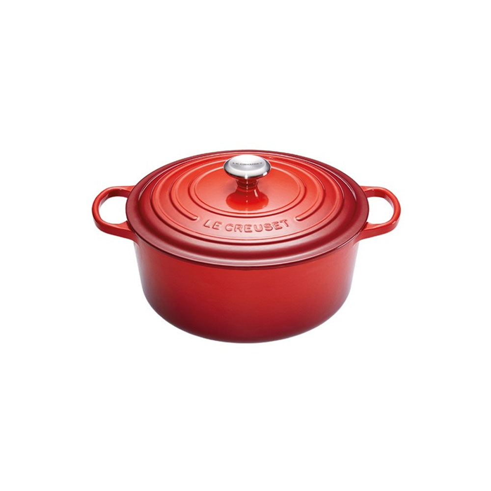 Le Creuset Cherry Red Round Casserole, 28 cm
