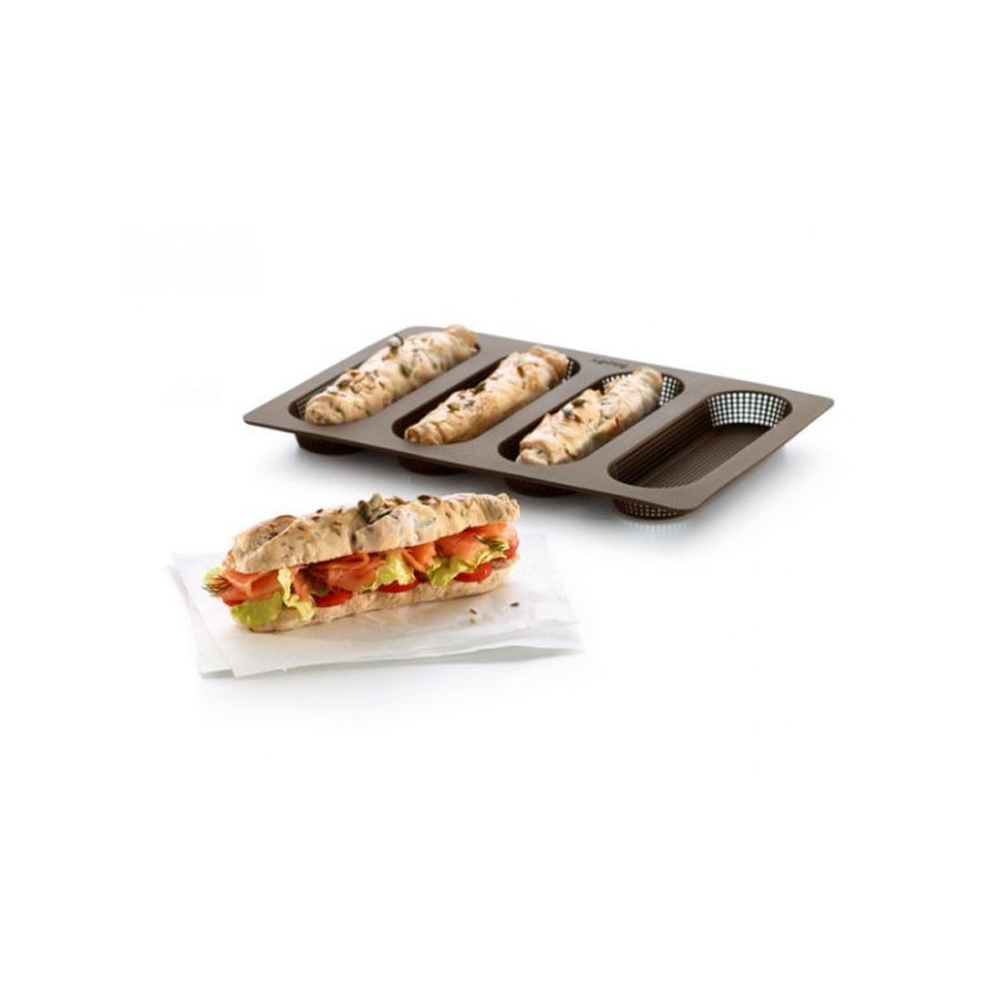 Mini Baguette Mold 4-Cavity